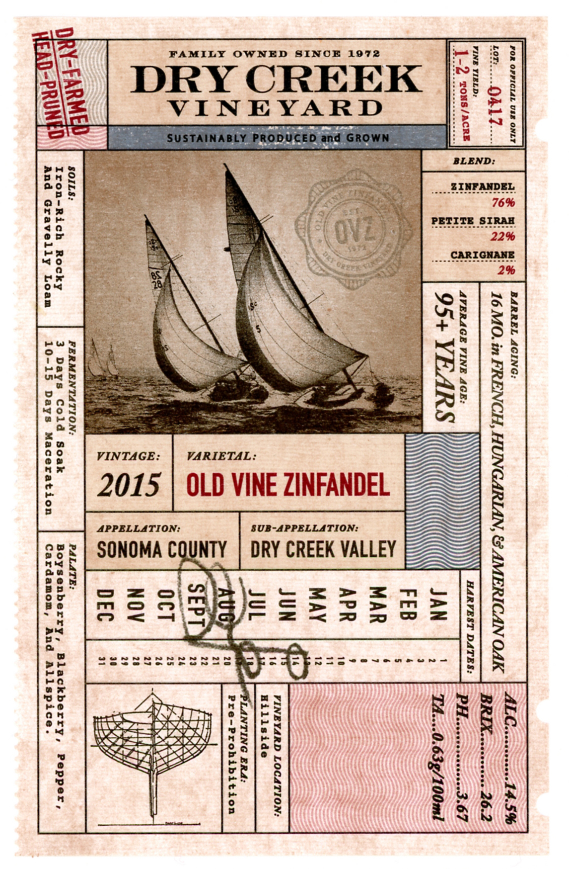 2015 Dry Creek Vineyard Zinfandel Old Vine