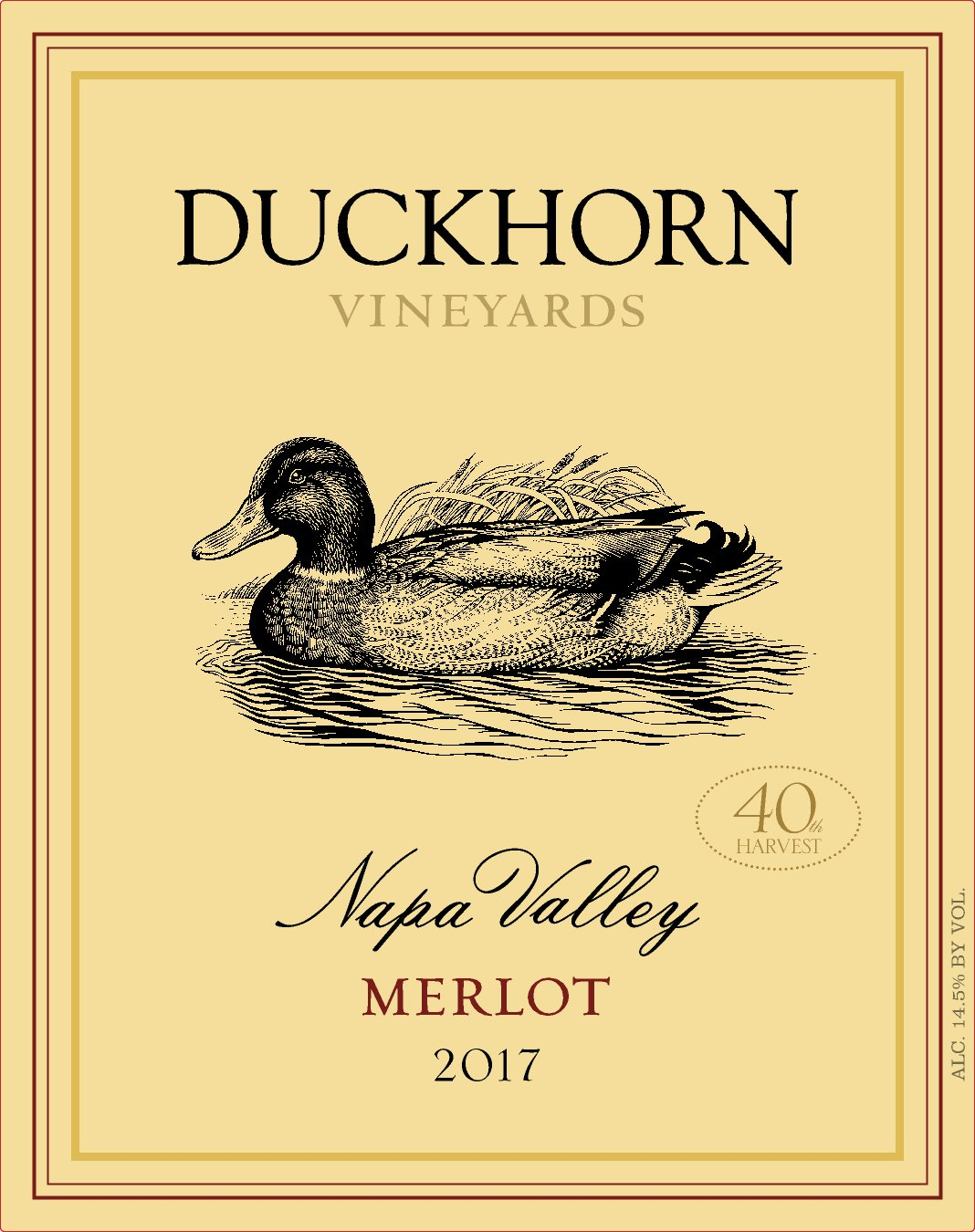 Duckhorn Merlot 40th Harvest