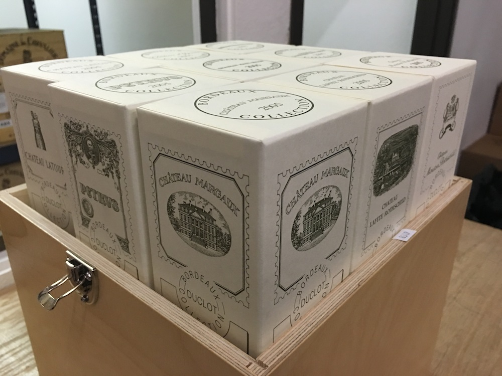 2005 Bordeaux Collection Duclot Nine Bottle Wood Case Assortment