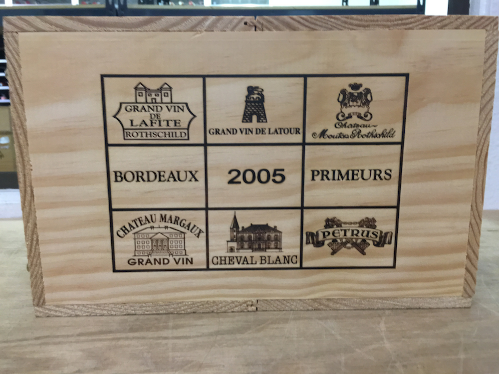 2005 Bordeaux Collection Caisse Prestige Six Bottle Wood Case Assortment