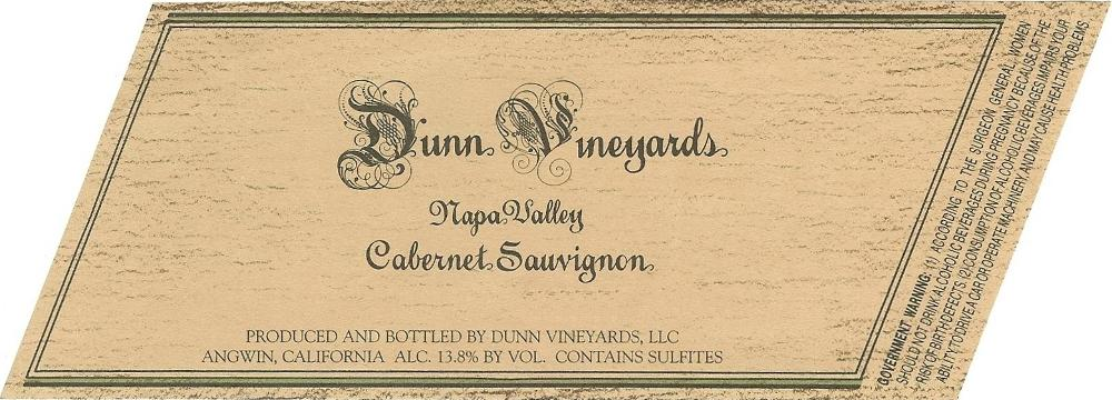 Dunn Vineyards Cabernet Sauvignon Napa