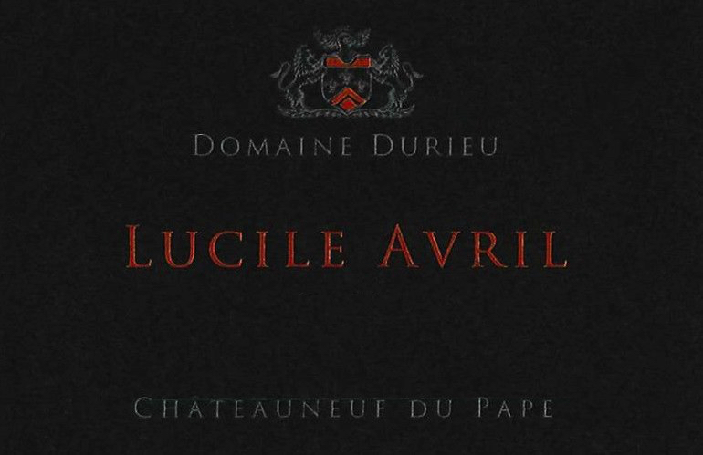 2016 Domaine Durieu Chateauneuf-du-Pape Cuvee Lucille Avril