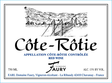 2014 Philippe Faury Cote Rotie