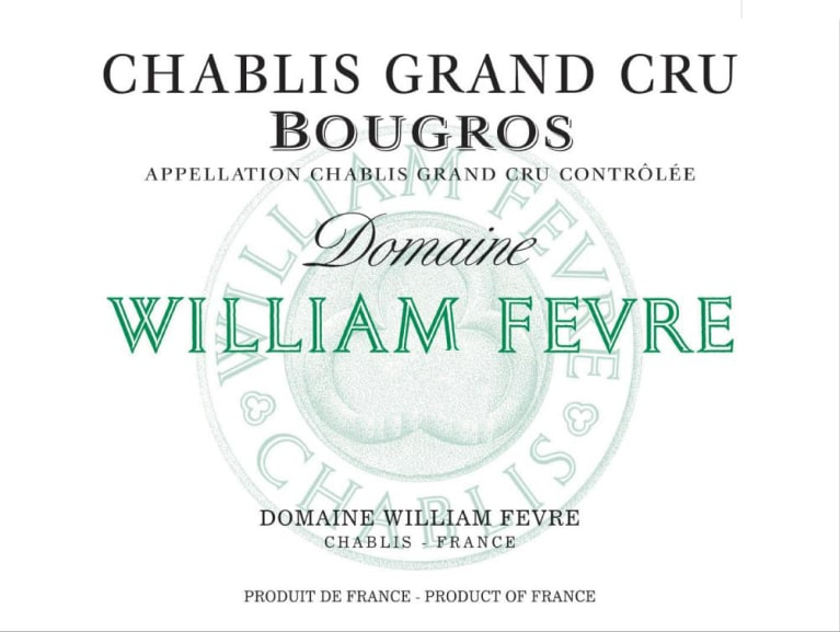 2016 Domaine William Fevre Chablis Bourgos Grand Cru