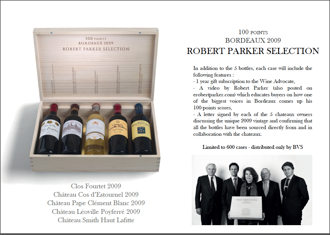 2009 Bordeaux Collection Robert Parker Selection Five Bottle Wood Assortment