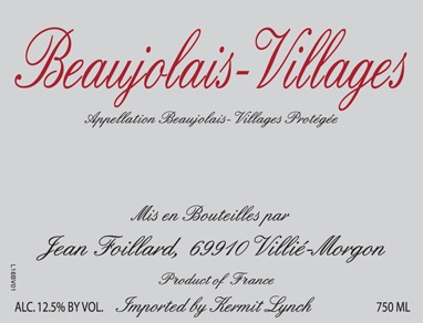 2017 Jean Foillard Beaujolais-Villages