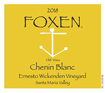 2018 Foxen Chenin Blanc Ernesto Wickenden Vineyard Old Vines 1.5 L