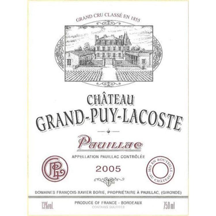 2005 Chateau Grand-Puy-Lacoste
