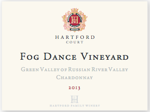 2013 Hartford Court Chardonnay Fog Dance Vineyard