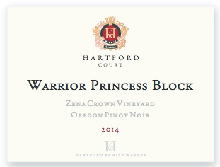 2014 Hartford Court Pinot Noir Warrior Princess Block Zena Crown Vineyard