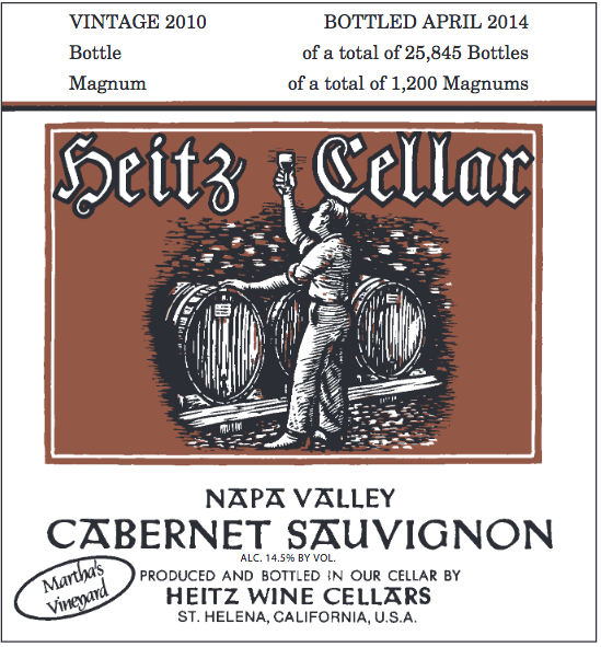2010 Heitz Cellars Cabernet Sauvignon Martha's Vineyard