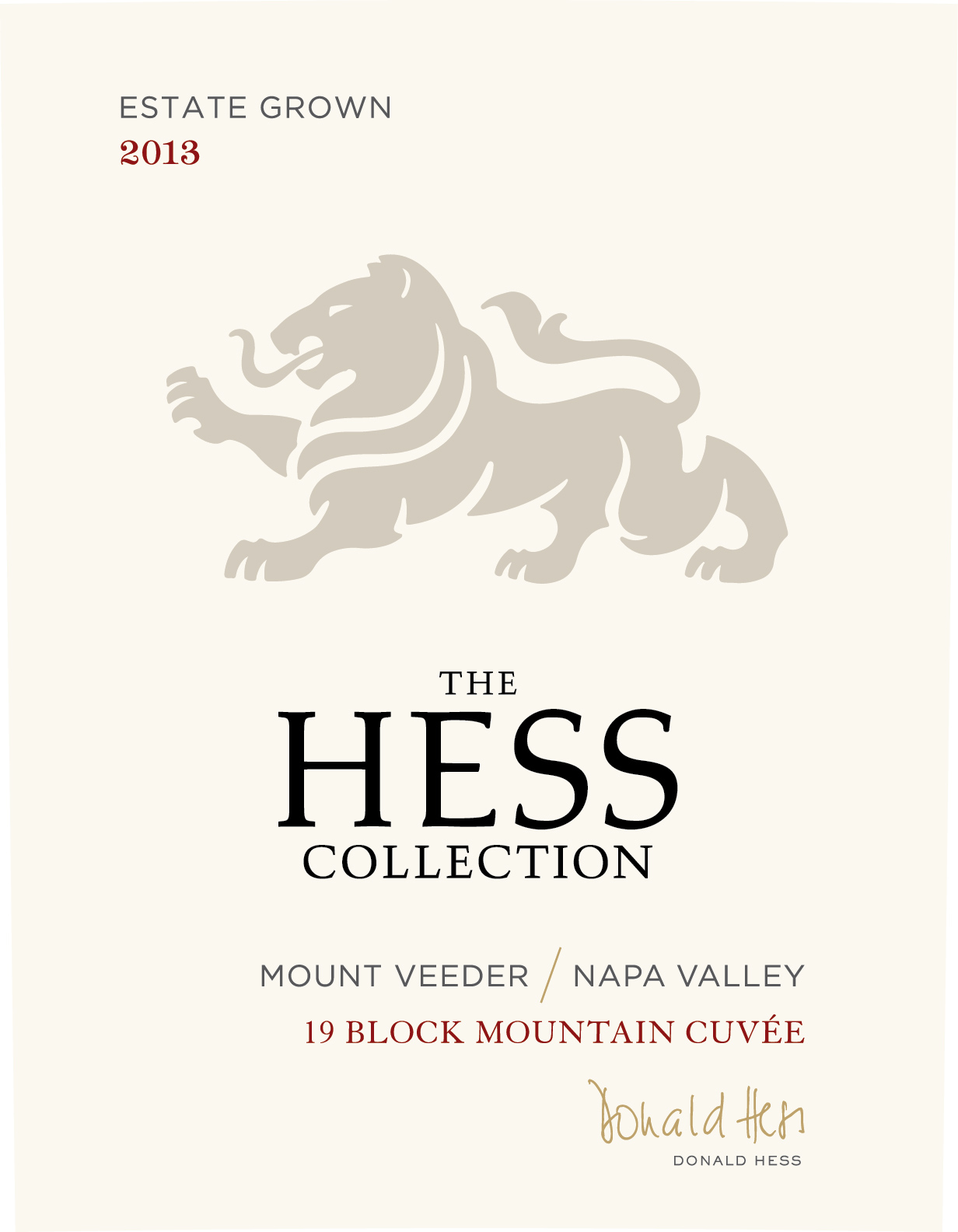 Hess Collection Proprietary Red 19 Block Mountain Cuvee
