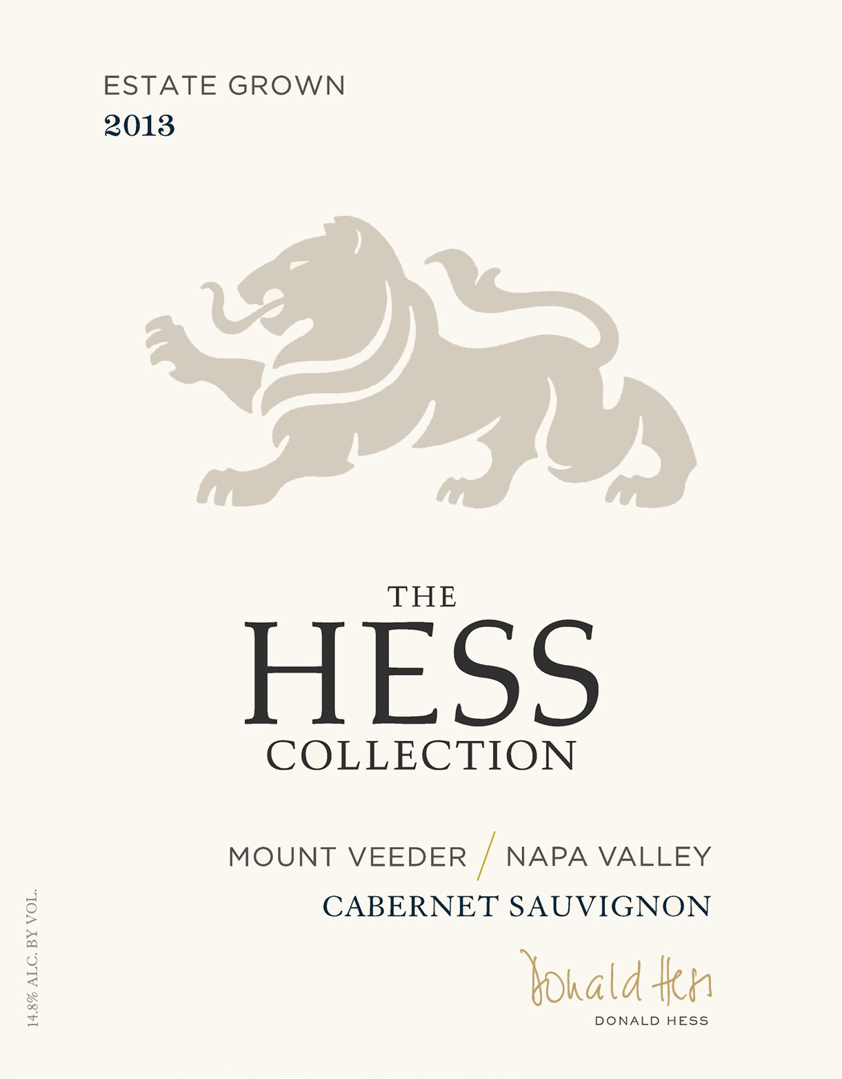 2013 Hess Collection Cabernet Sauvignon Estate Mount Veeder