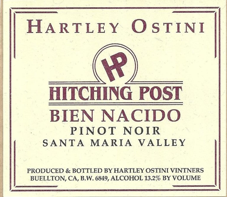 2017 Hitching Post Pinot Noir Bien Nacido Vineyard
