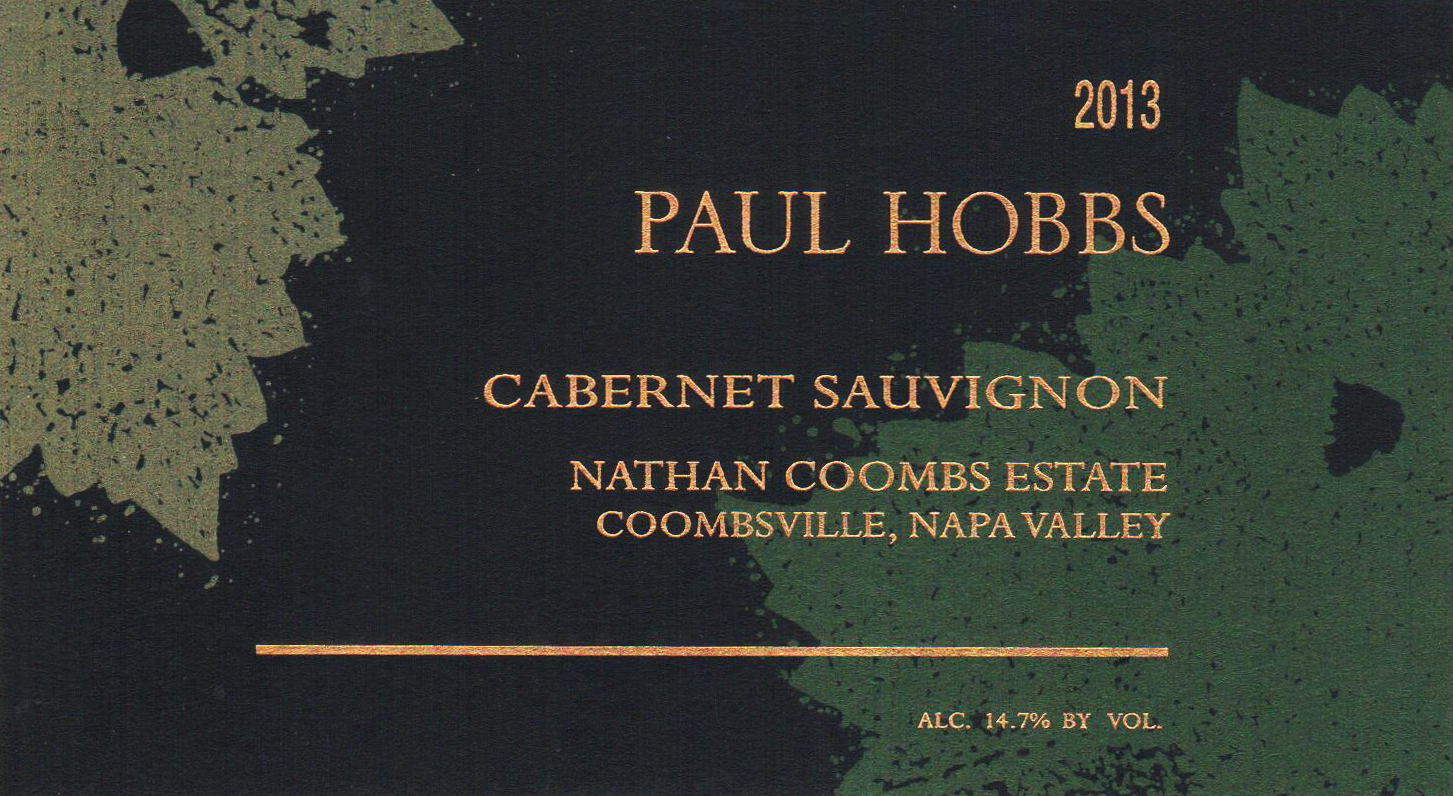 2013 Paul Hobbs Cabernet Sauvignon Nathan Coombs Estate