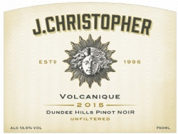 2015 J. Christopher Pinot Noir Volcanique