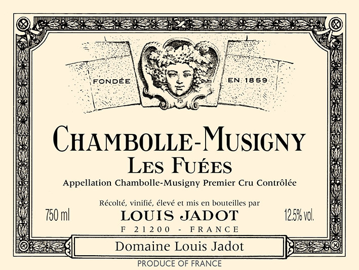 2015 Louis Jadot Chambolle-Musigny les Fuees 1er Cru (Domaine des Heritiers)