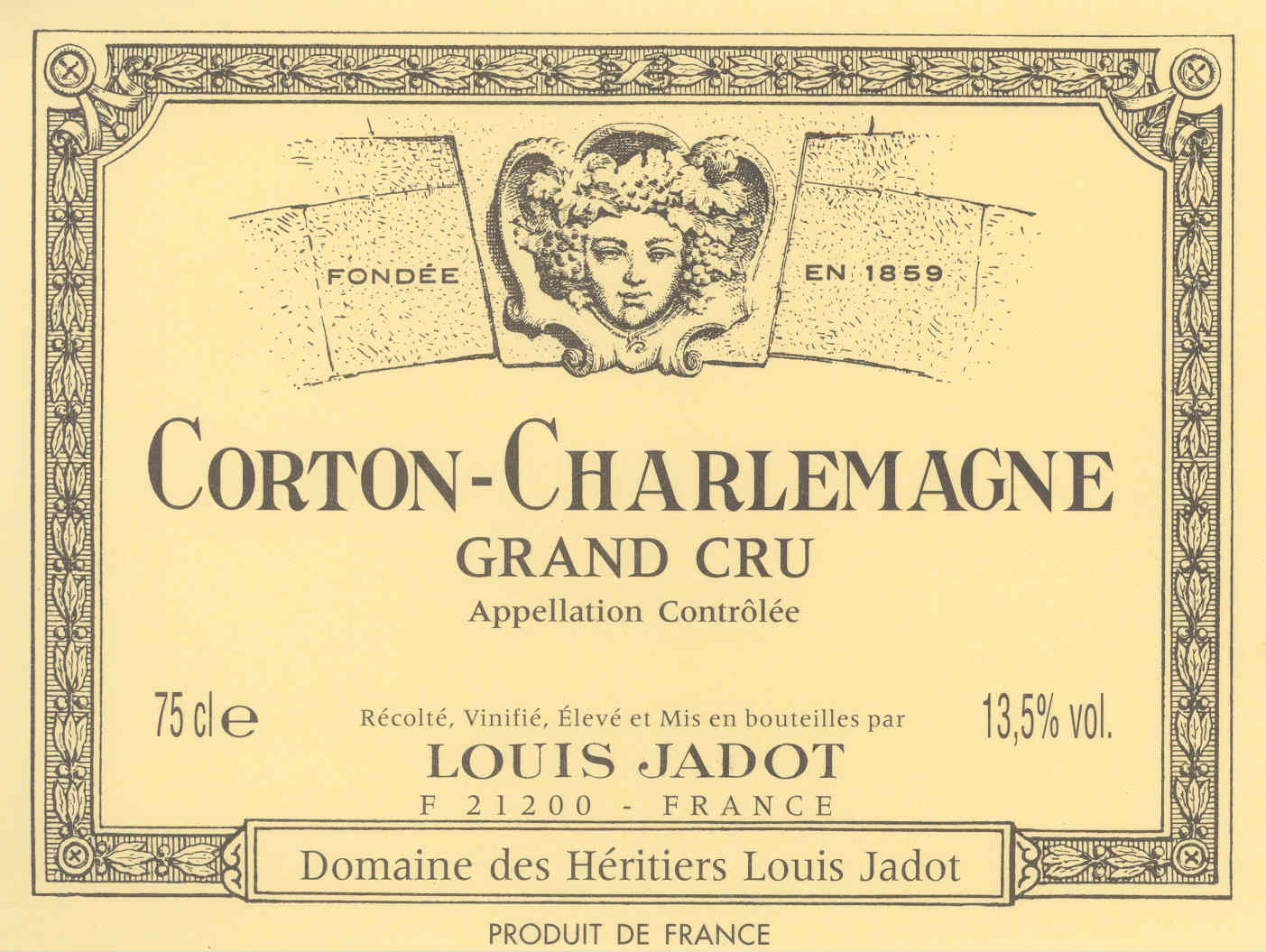 Louis Jadot Corton-Charlemagne Grand Cru (Domaine des Heritiers)