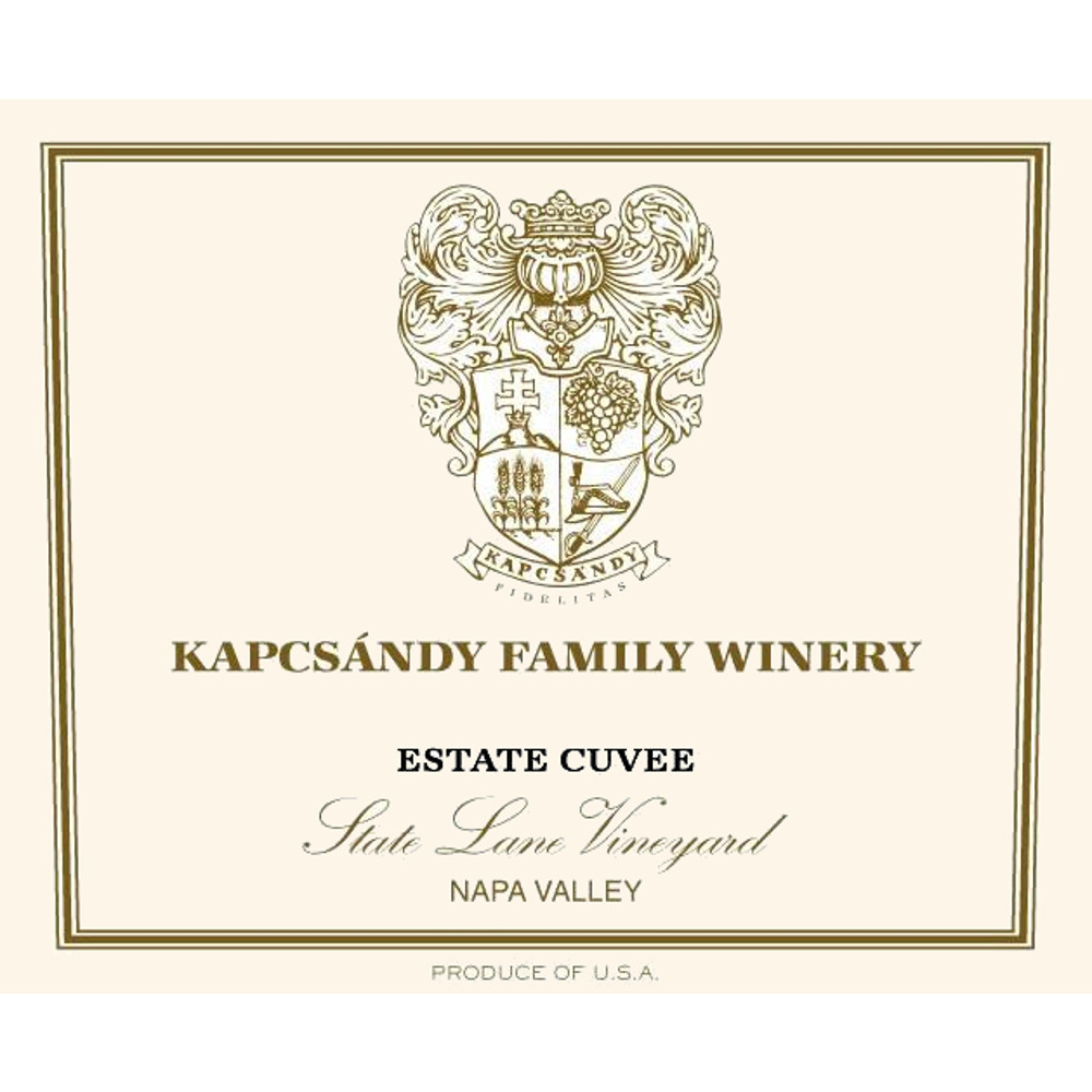 Kapcsandy Family Winery Estate Cuvee State Lane Vineyard