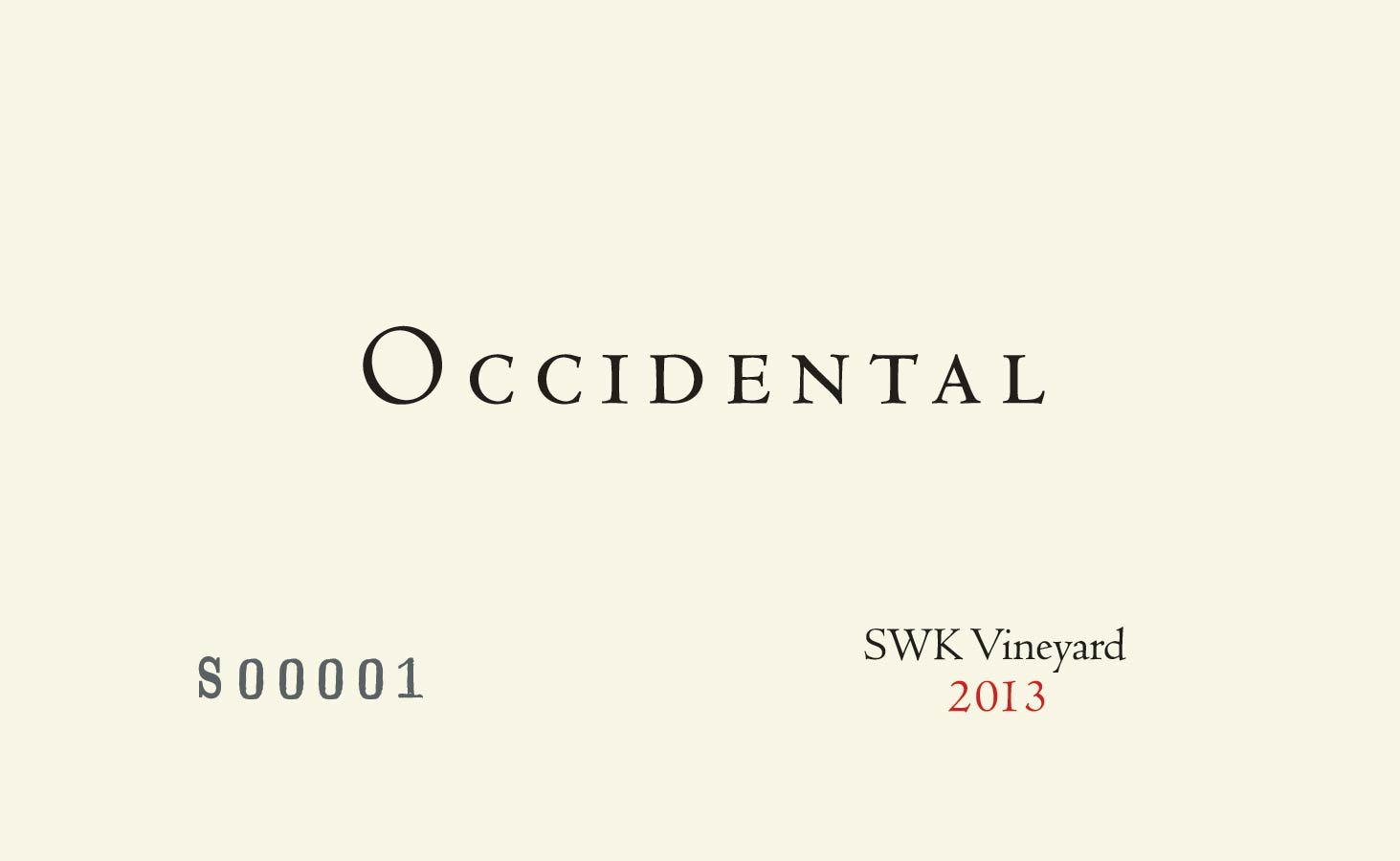2014 Kistler Occidental Pinot Noir SWK Vineyard