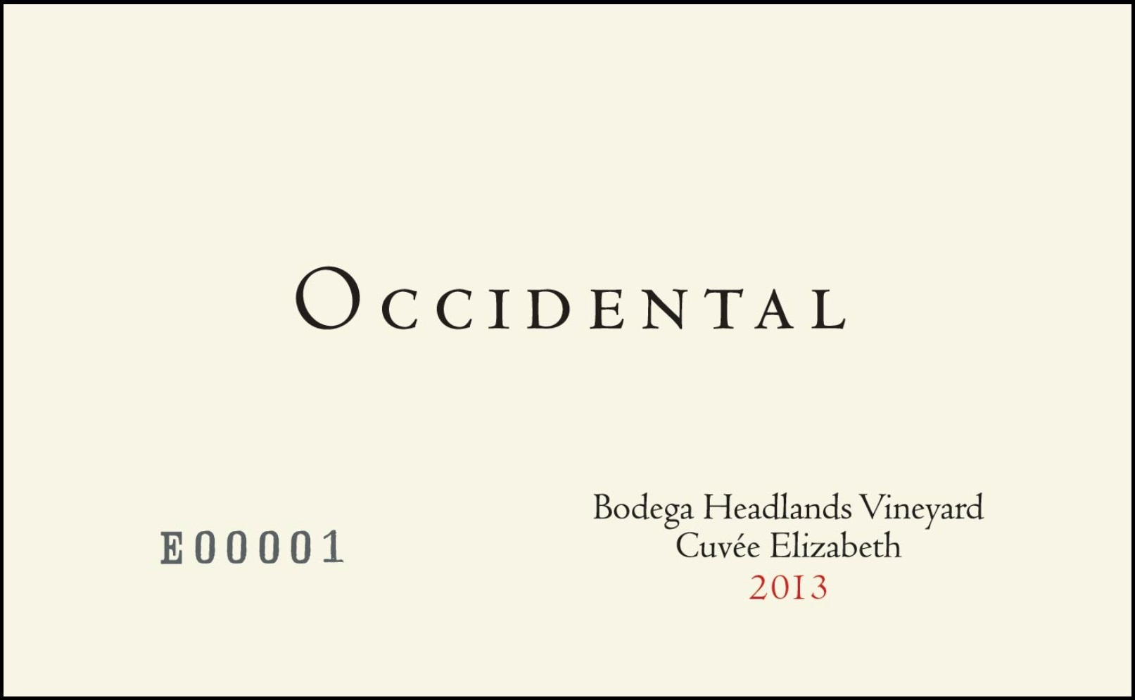 2014 Kistler Occidental Pinot Noir Bodega Headlands Vineyard Cuvee Elizabeth