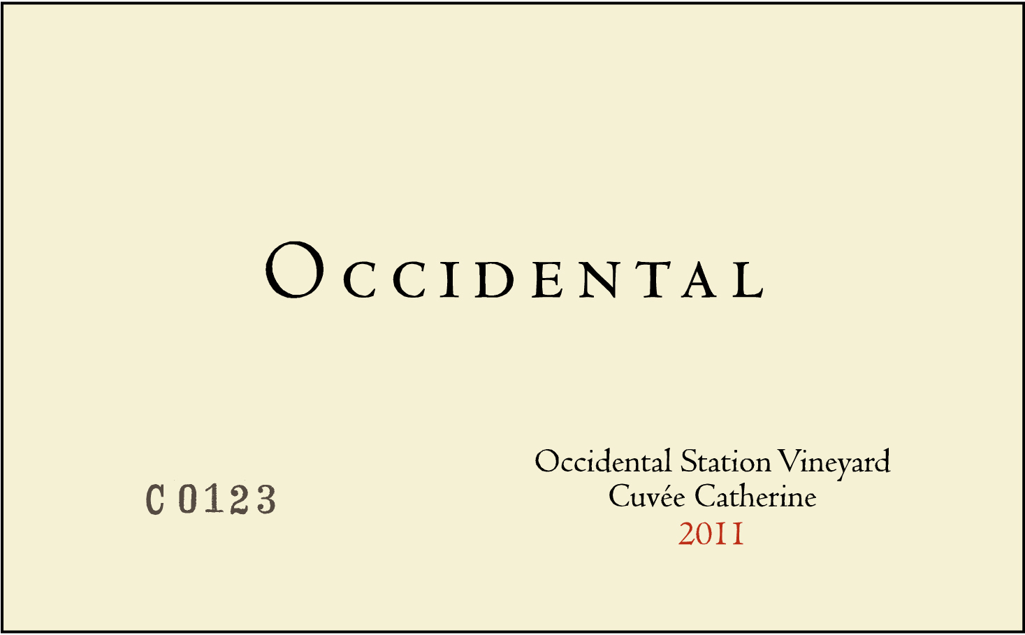 2014 Kistler Occidental Pinot Noir Occidental Station Vineyard Cuvee Catherine