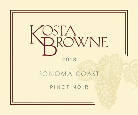Kosta Brown Pinot Noir Sonoma Coast
