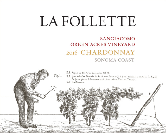 La Follette Chardonnay Sangiacomo Green Acres Vineyard