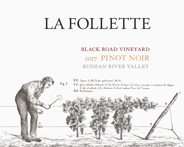 La Follette Pinot Noir Black Road Vineyard