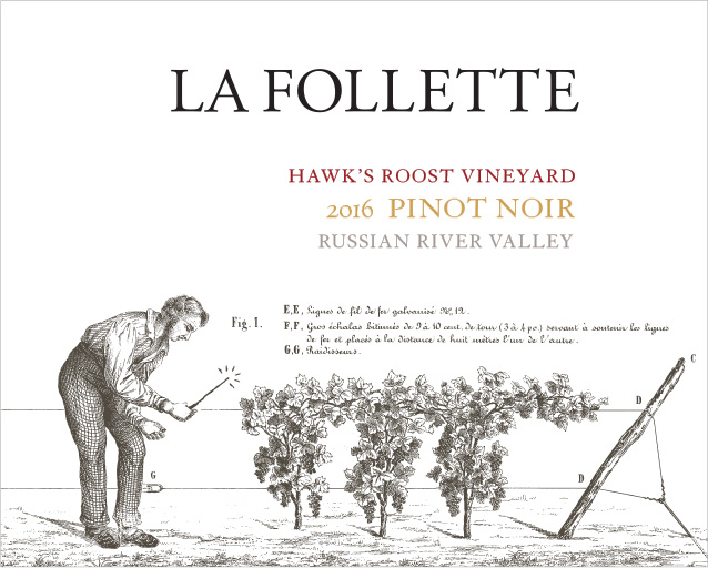 La Follette Pinot Noir Hawk's Roost Vineyard