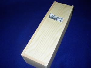 Wood Gift Box with LAWC Logo Single Bottle