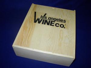 Wood Gift Box with LAWC Logo Three Bottle