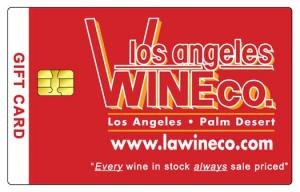 Los Angeles Wine Company Gift Card $100.00
