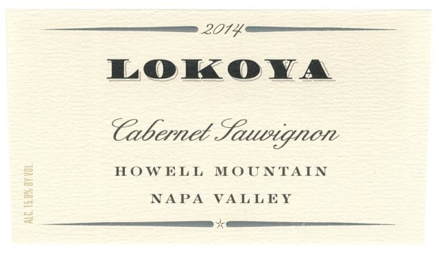 Lokoya Cabernet Sauvignon Howell Mountain