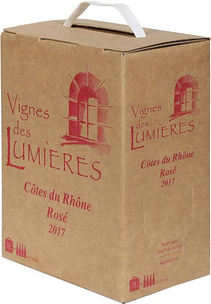 2019 Clos des Lumieres Cotes-du-Rhone Rose Bag in Box 3.0 L