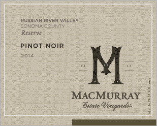 MacMurray Ranch Pinot Noir Estate Vineyards Reserve