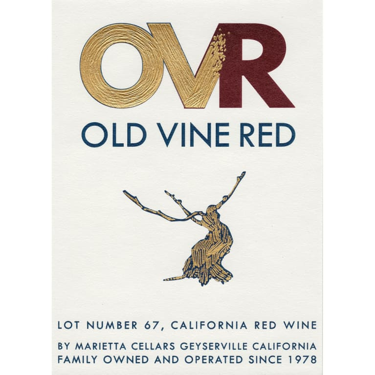 N.V. Marietta Cellars Old Vine Red Lot #67