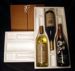 Styrofoam Flat Laydown Shipper with Box Three Bottle