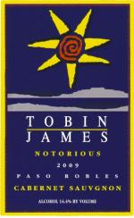 2009 Tobin James Cabernet Sauvignon Notorious