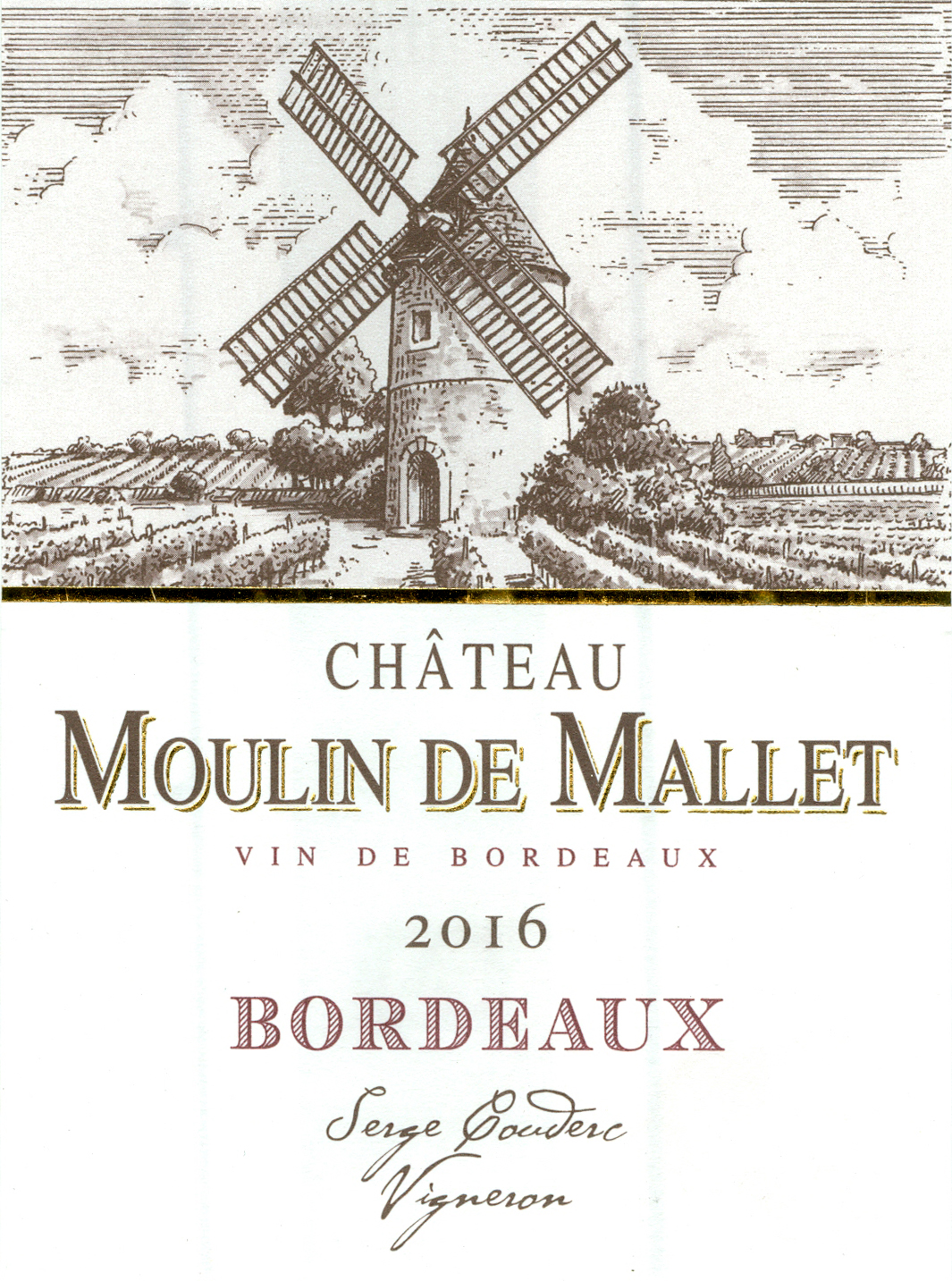 2016 Chateau Moulin De Mallet