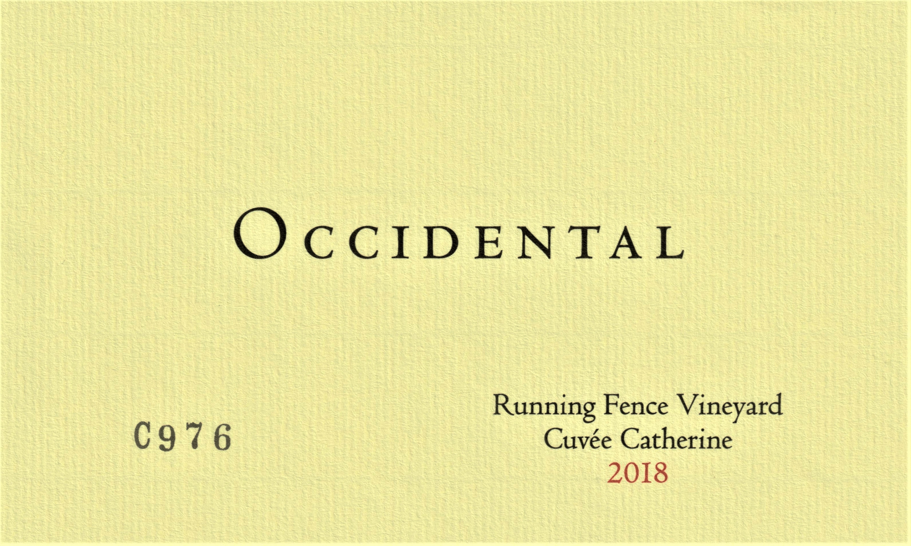 Occidental Pinot Noir Occidental Station Vineyard Cuvee Catherine