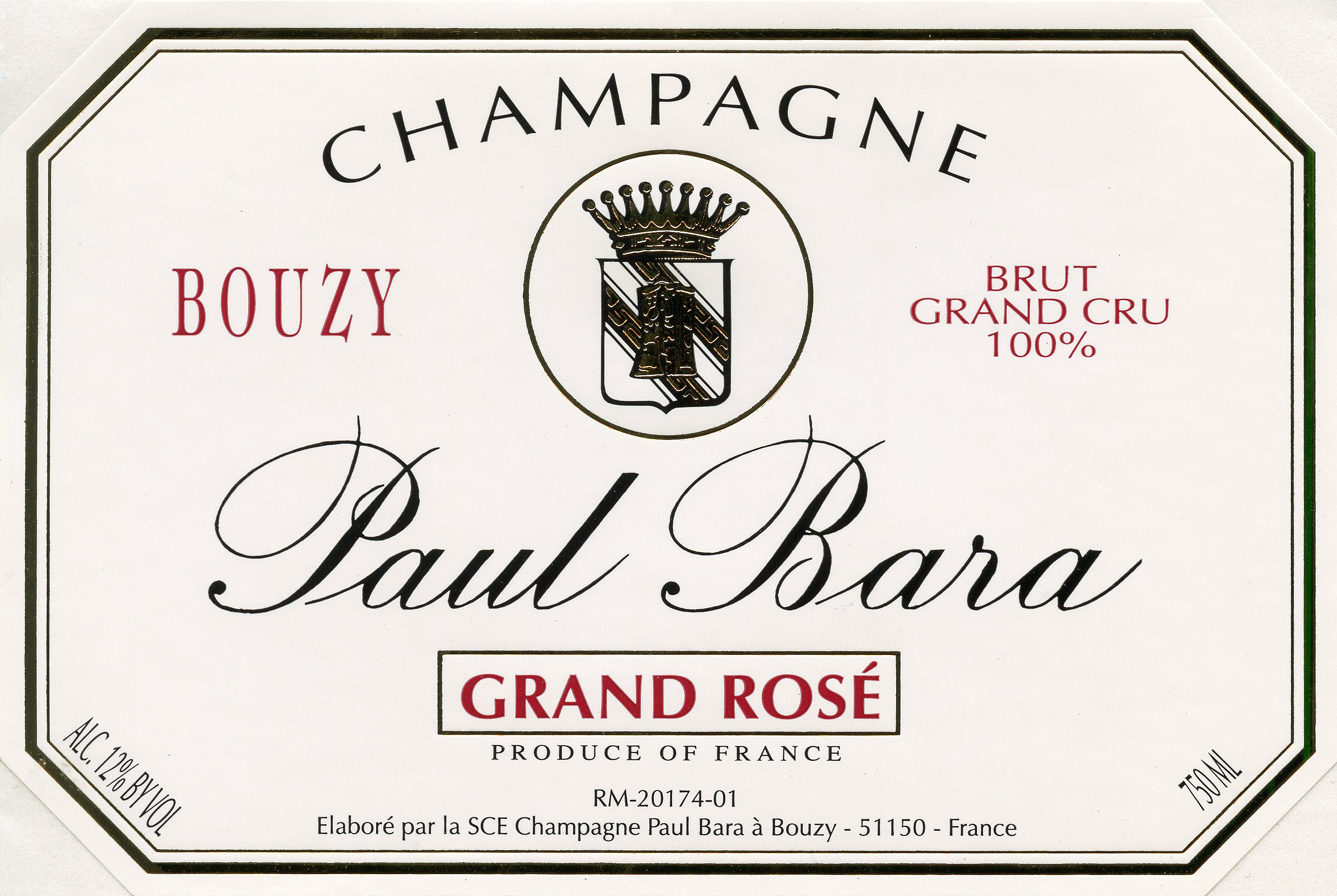 N.V. Paul Bara Reserve Brut Rose Grand Cru 375 ml