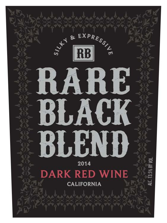 Rare Black Blend Dark Red Wine
