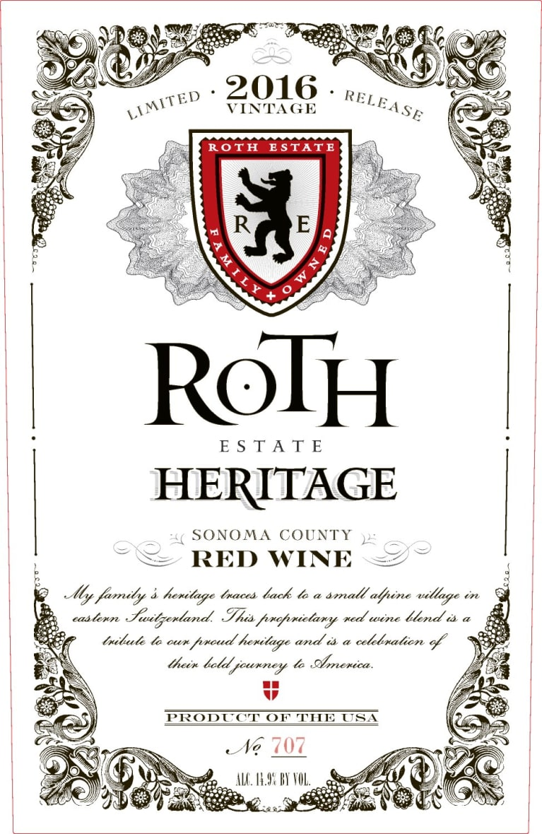 2016 Roth Estate Heritage Proprietary Red Blend