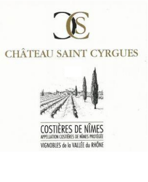 Chateau Saint-Cyrgues Costieres de Nimes Rouge