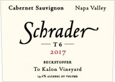2017 Schrader Cellars Cabernet Sauvignon Beckstoffer To Kalon Vineyard T6