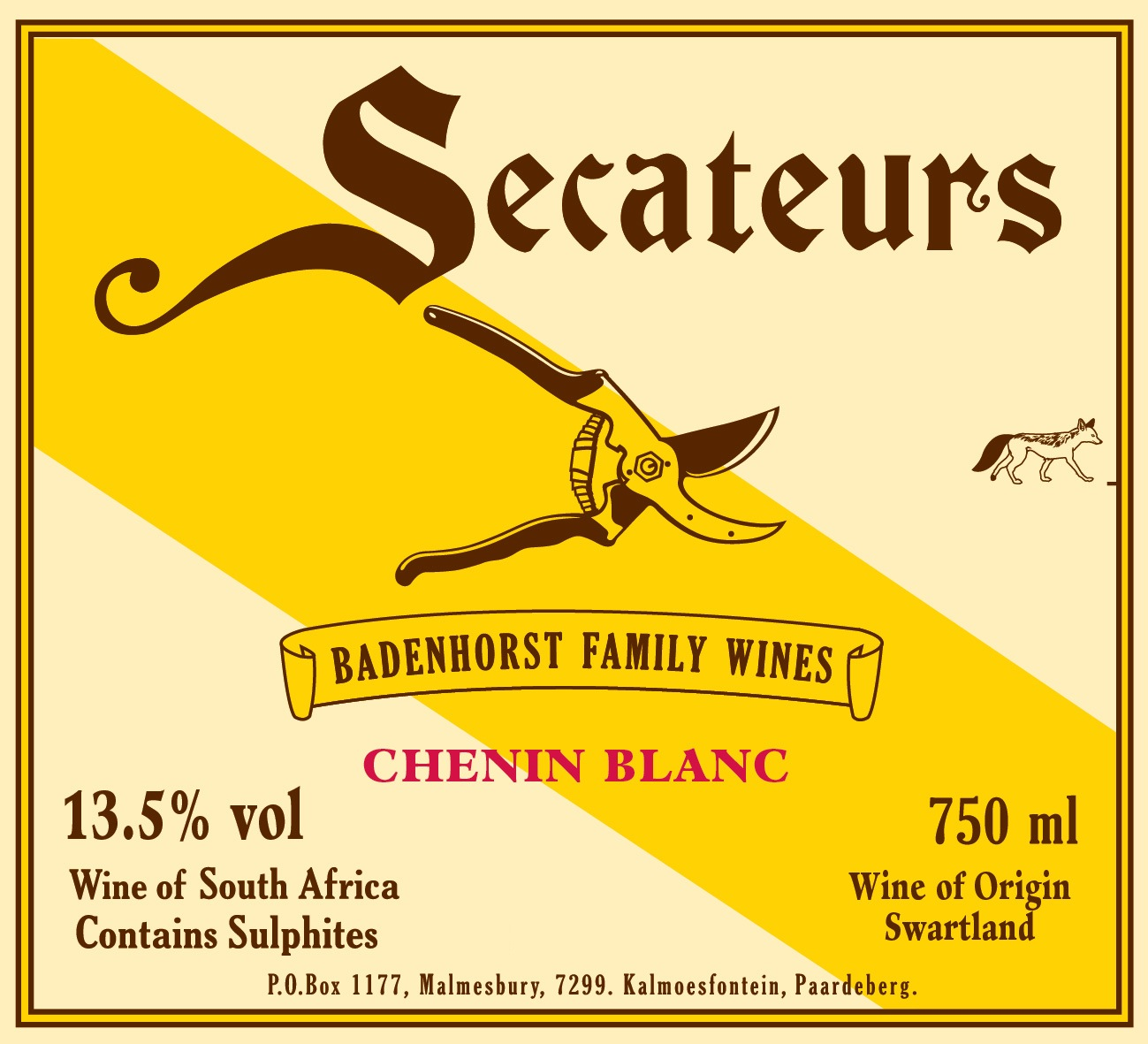 2017 A. A. Badenhorst Family Wines Secateurs Chenin Blanc