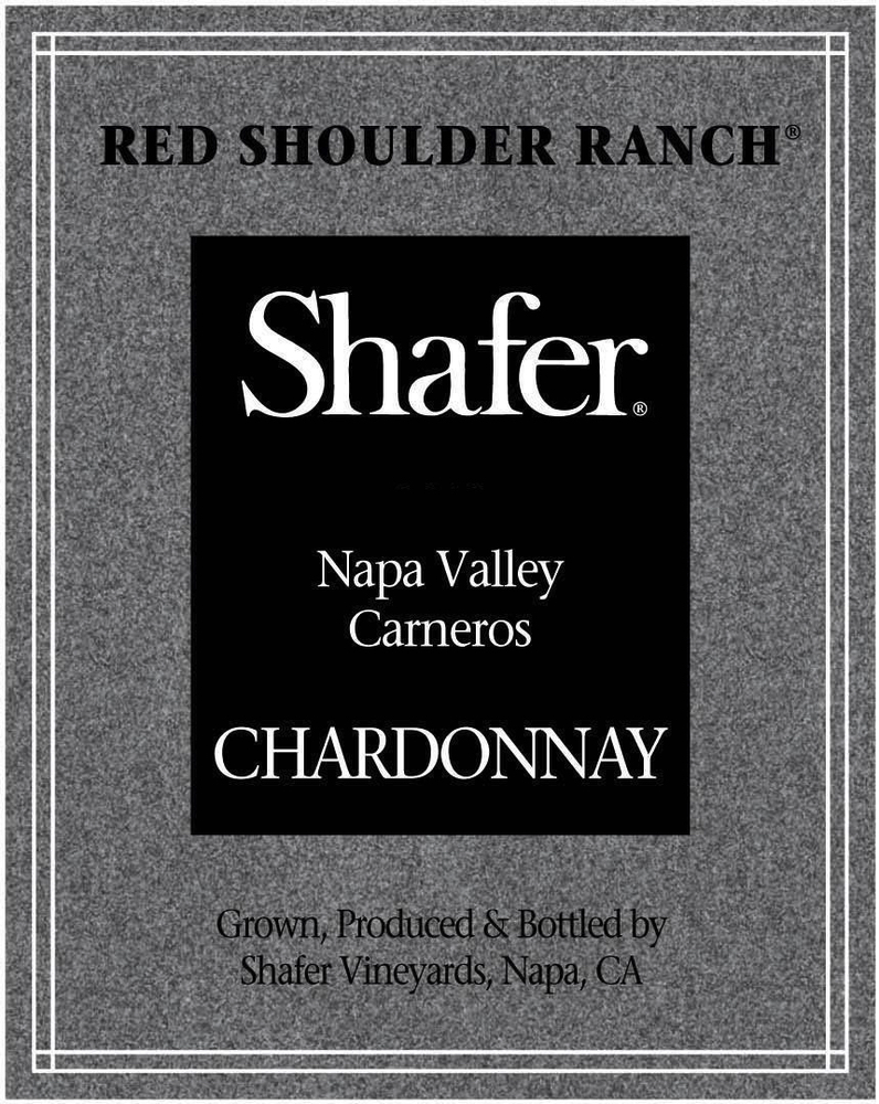 Shafer Chardonnay Red Shoulder Ranch