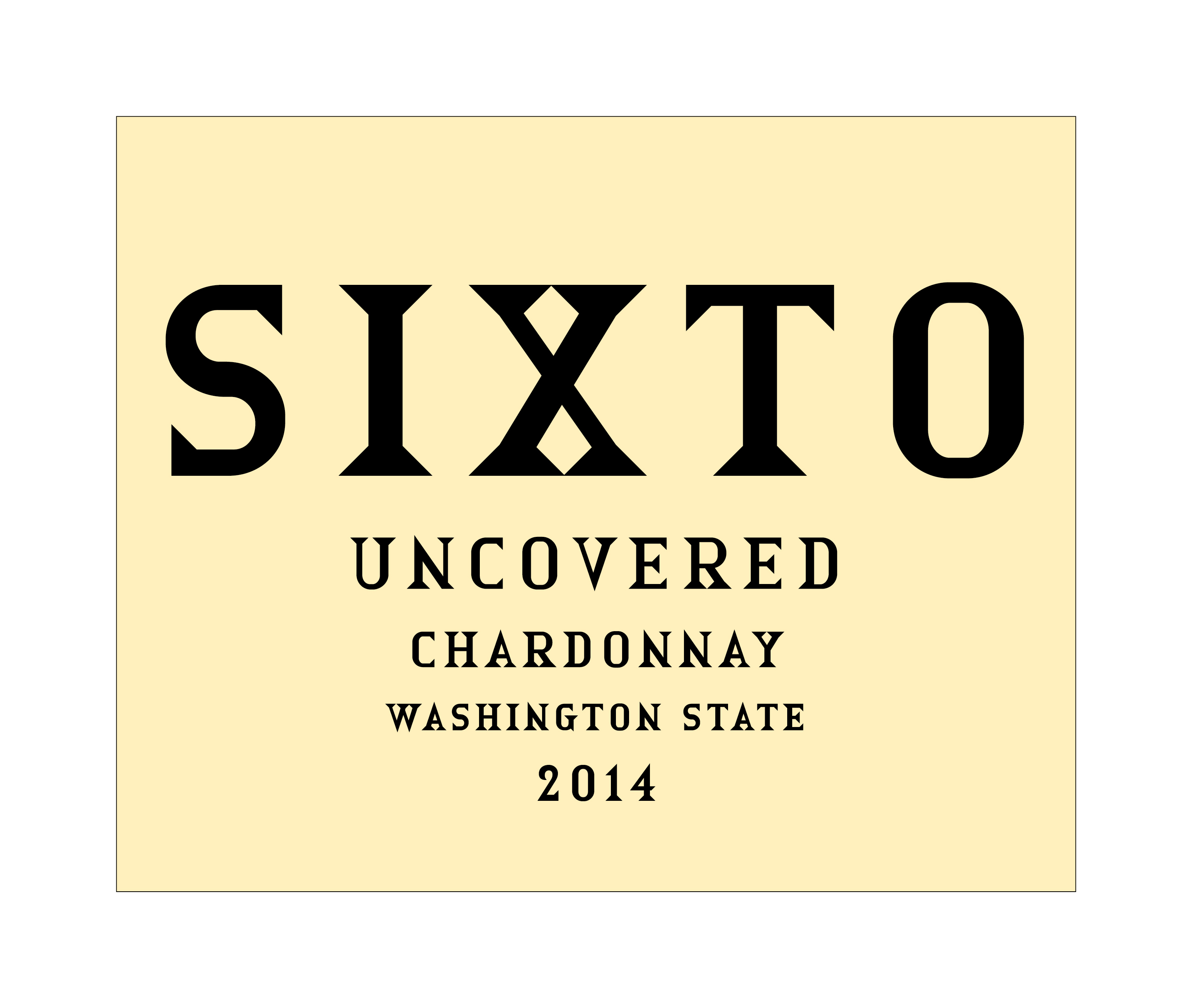2014 Sixto Chardonnay Uncovered