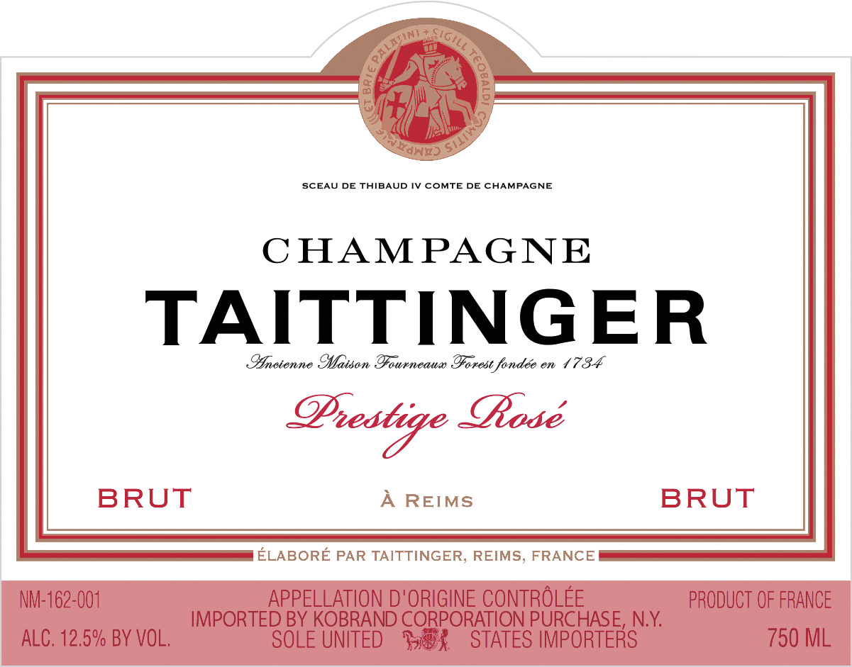 N.V. Taittinger Brut Prestige Rose 375 ml
